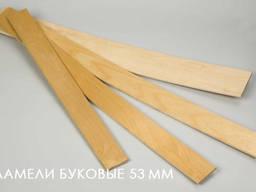 Буковая ламель 53*8 от производителя /Украина/ - фото 3