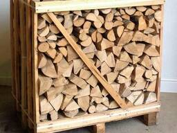 Дрова колотые (дуб, граб, береза, ольха) тех. сушка в ящиках - фото 2