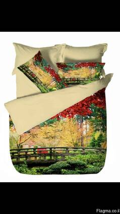 Panel print bedding sets